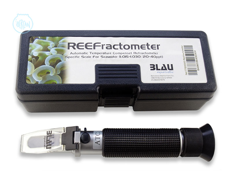 Medidor de salinidad refractómetro Blau Aquaristic