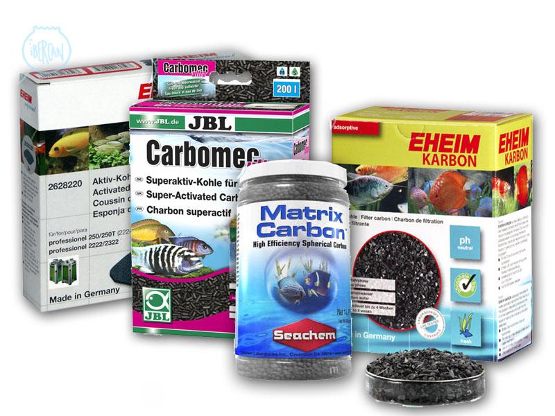Material filtrante de carbón activo para filtros de acuario -
