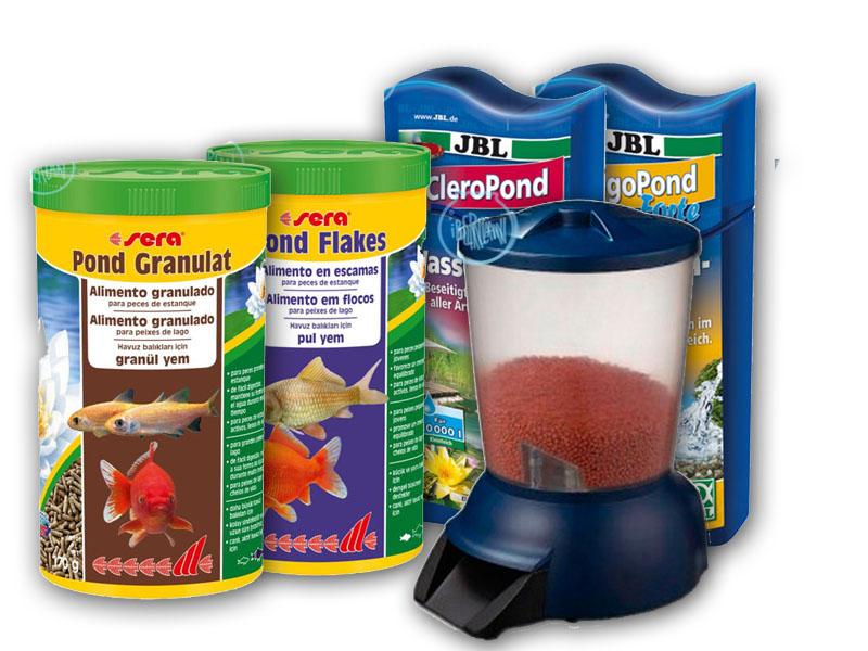 Algicidas y alimentos para peces de estanque económicos -