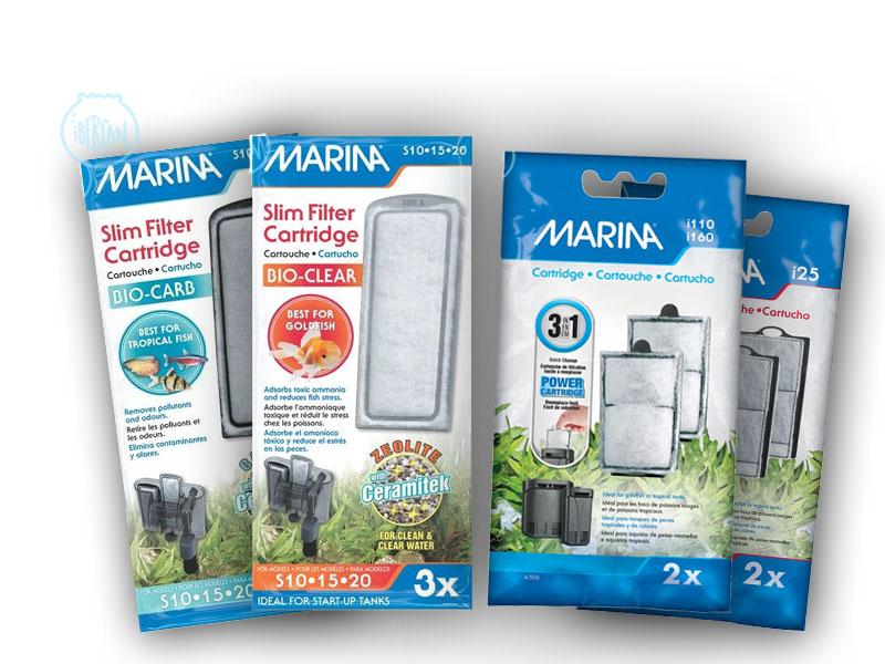 Cartuchos compactos para filtros de acuario -