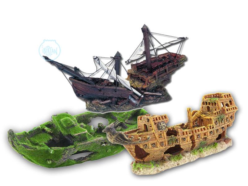 Barcos hundidos para la decoración de acuarios