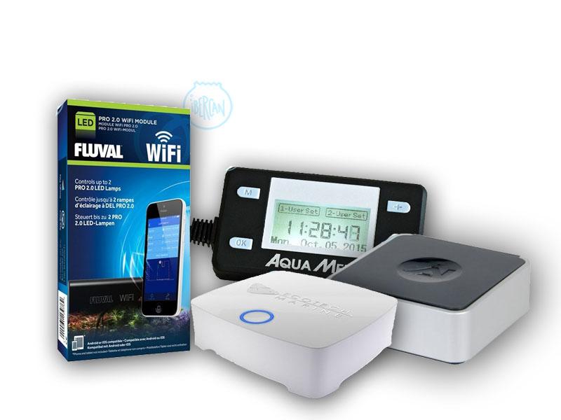 Con los controladores para pantallas led de acuario, podrás controlar de forma sencilla desde tu dispositivo móvil, ordenador o tablet las funciones de las pantallas led de tu acuario.