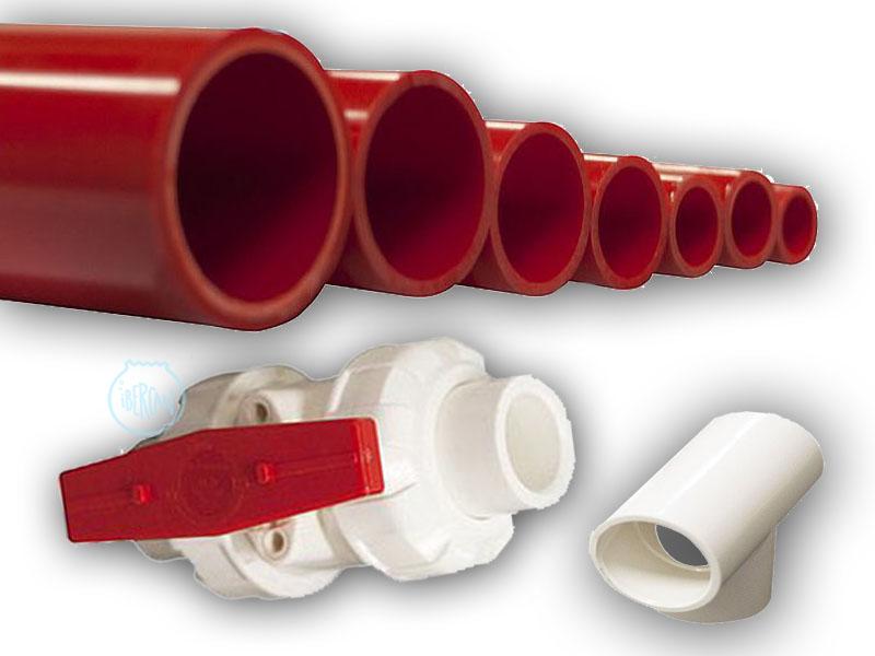 PVC blanco/rojo para montajes de acuarios más económicos en ibercan.net