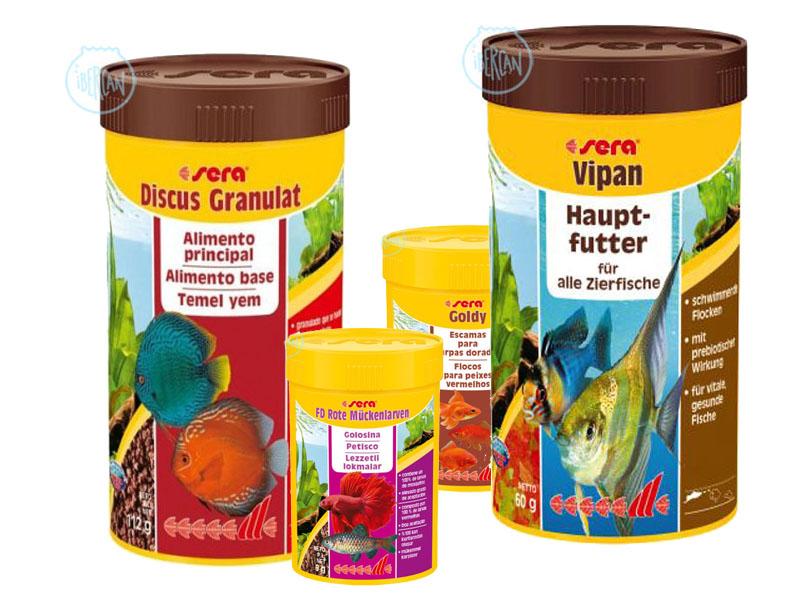 Alimentos y comida para peces Sera económica -