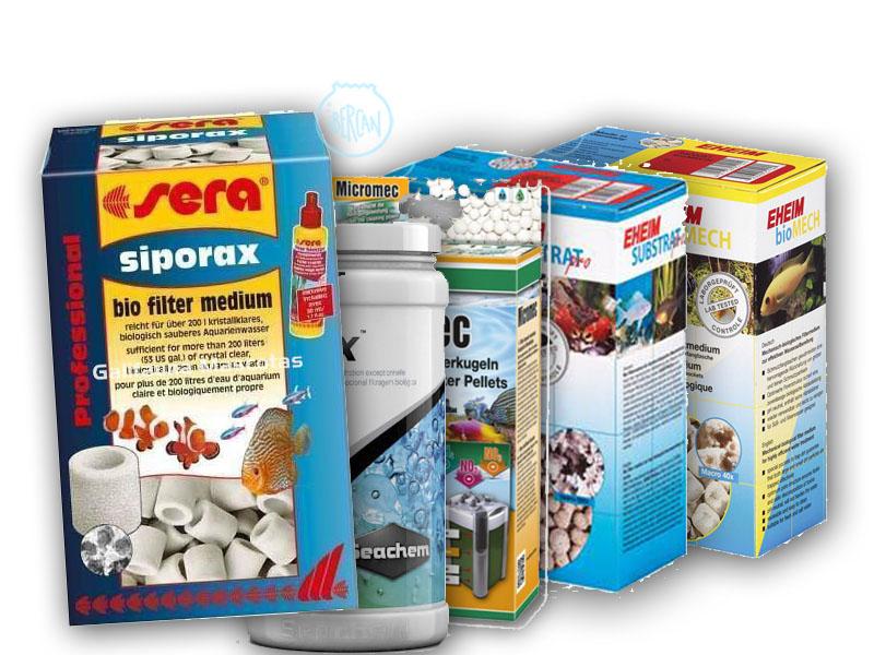 Material filtrante biológico para filtros de acuario -