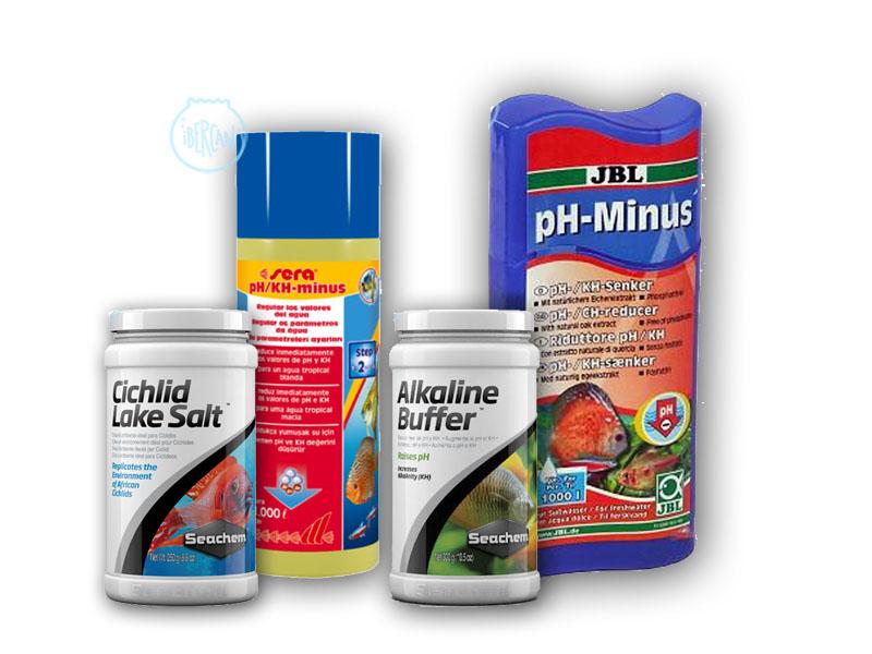 Productos para modificar el PH del agua en acuarios -