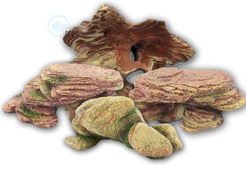 Rocas decorativas para acuario económicas -